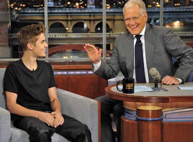Justin Bieber David Letterman