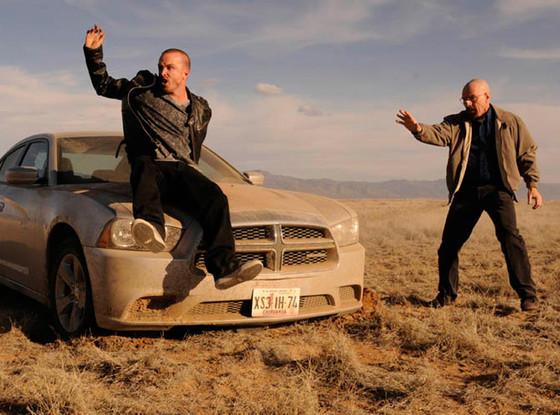 """Jesse (Aaron Paul) and Walter (Bryan Cranston) in Breaking Bad's season five premiere, """"Live Free or Die."""""""