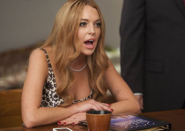 Lindsay Lohan in a scene from Glee. (Fox)