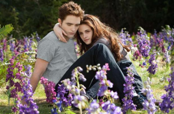 Robert Pattinson and Kristen Stewart cozy up during a scene in 'The Twilight Saga: Breaking Dawn - Part 2.' (Summit)