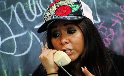 Snooki (Nicole Polizzi) in a scene from Jersey Shore. (MTV)