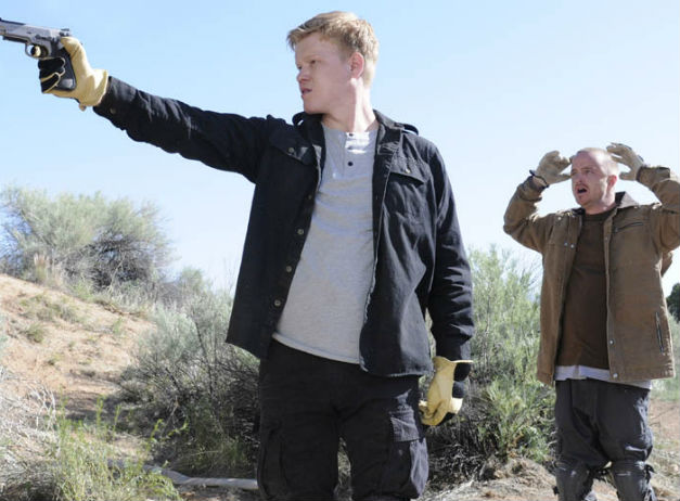 "Todd (Jesse Plemons) and Jesse (Aaron Paul) in Breaking Bad's ""Dead Freight."" (Photo: AMC)"