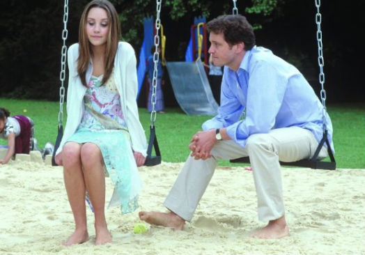 Colin Firth and Amanda Bynes in What a Girl Wants.