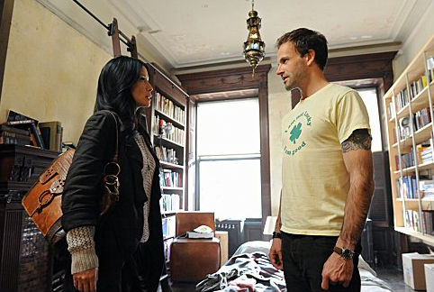 Lucy Liu and Jonny Lee Miller in Elementary, a new Sherlock Holmes drama from CBS.