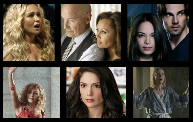 (From top left) Nashville, 666 Park Avenue, Beauty and the Beast, Save Me, Made in Jersey, Carrie Diaries