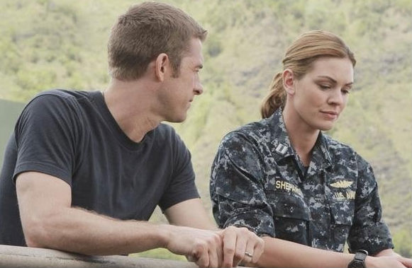 Scott Speedman and Daisy Betts in Last Resort. (ABC)