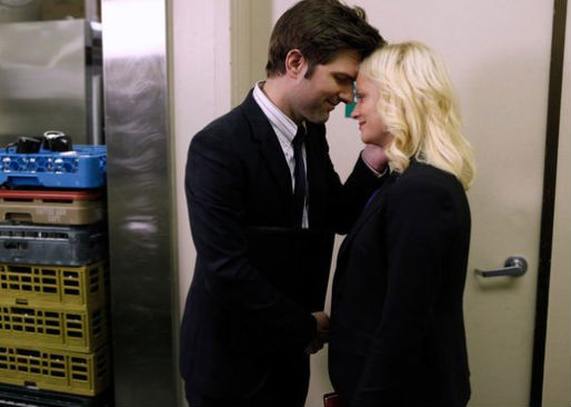 Adam Scott (Ben Wyatt) and Amy Poehler (Leslie Knope) in Parks and Recreation. (NBC)
