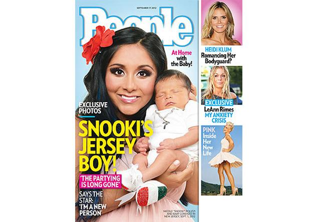 Snooki and baby Lorenzo have made their debut as mother and son (sans baby-daddy Jionni LaValle), on the cover of People magazine.