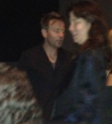 This is a really, really blurry photo of Ewan McGregor.