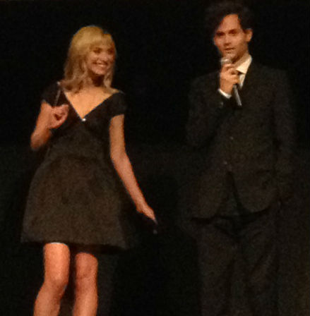 Imogen Poots and Penn Badgley at TIFF's Greetings from Tim Buckley premiere.