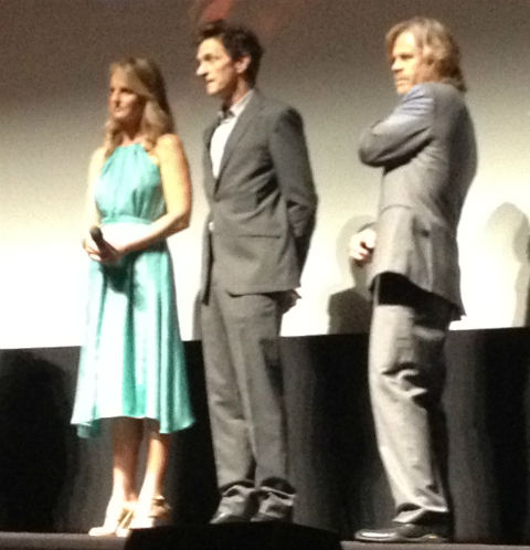 And here's Hawkes with his Sessions costars, Helen Hunt and William H Macy.