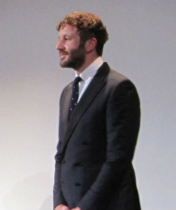 And here's her Bridesmaids costar Chris O'Dowd at The Sapphires premiere.