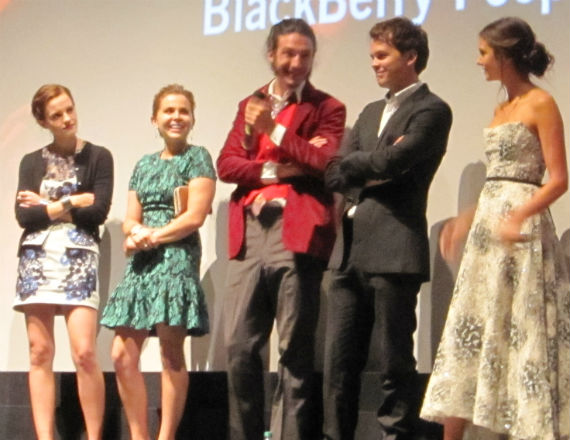 Emma Watson, Mae Whitman, Ezra Miller, Johnny Simmons and Nina Dobrev at The Perks of Being a Wallflower's TIFF premiere.