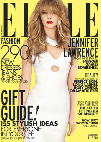 Jennifer Lawrence on the cover of Elle. (Carter Smith/Elle Magazine)