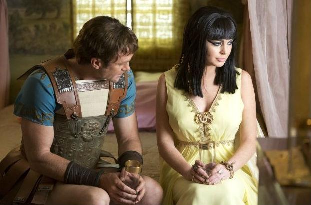 Grant Bowler and Lindsay Lohan in Liz & Dick. (Lifetime)