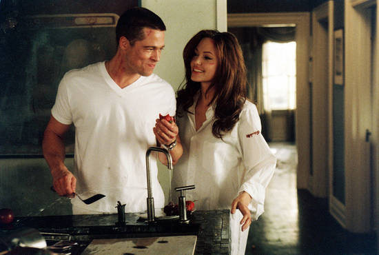 Brad Pitt and Angelina Jolie in Mr. & Mrs. Smith. (Twentieth Century Fox)
