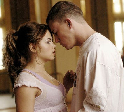 Channing Tatum and Jenna Dewan-Tatum in Step Up.