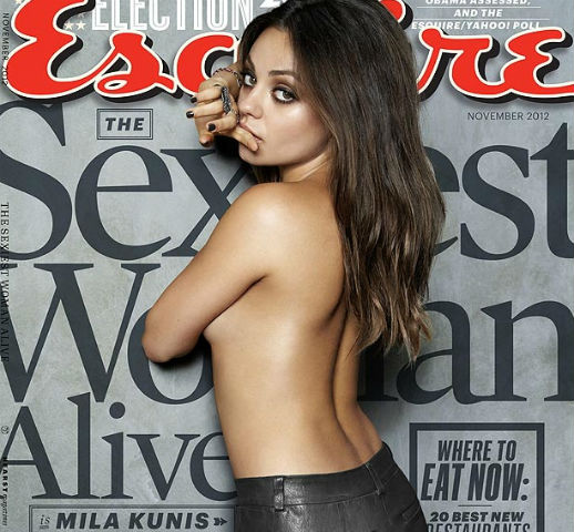 Mila Kunis covers the November 2012 issue of Esquire.