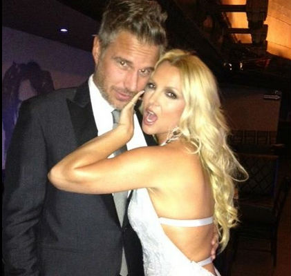 Jason Trawick and Britney Spears at the City of Hope Charity Gala in Oct 2012. (Facebook)