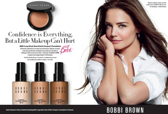 Katie Holmes Glows in New Beauty Ad