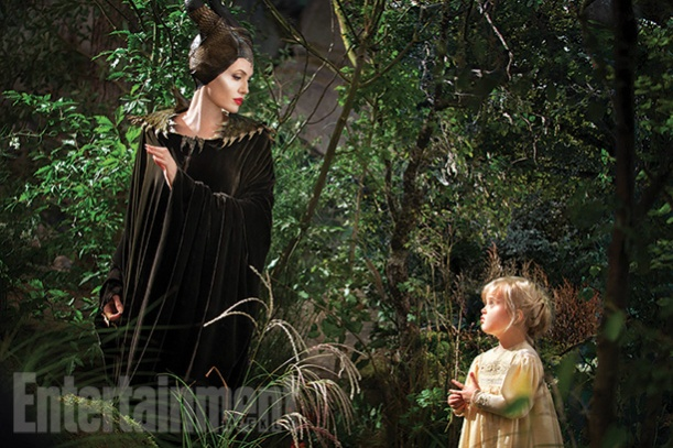 Angelina Jolie and her daughter in Maleficent